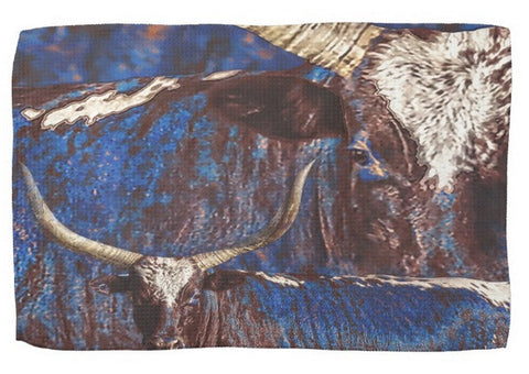 Watusi Blues Kitchen Towel