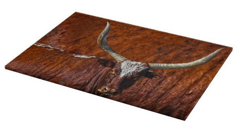 Watusi Blues in Rustic Red Cutting Board