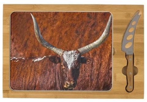 Watusi Blues in Rustic Red Cheese Board