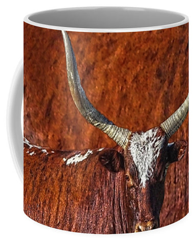 Watusi Blues in Rustic Red Mug