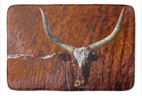 Watusi Blues in Rustic Red Bath Mat