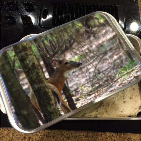 Whitetail Buck Cake Pan with Lid