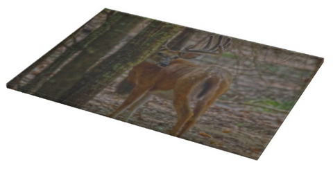 Whitetail Buck in Woods Cutting Board
