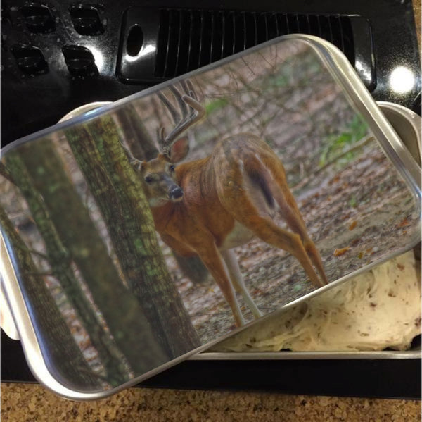 Whitetail Buck in Woods Cake Pan with Lid