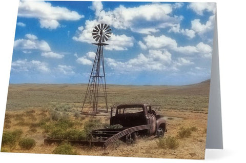 Windmill Over Lenzen Note Cards and Greeting Cards (25 Pack)