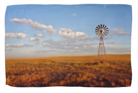 Windmill at Sunset Kitchen Towel