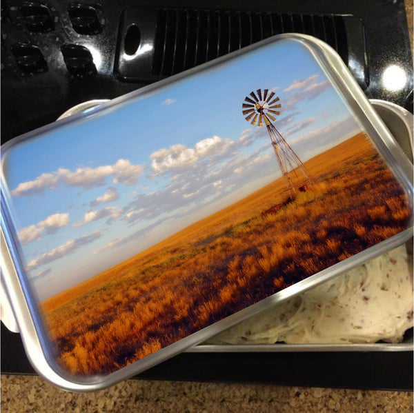 Windmill at Sunset Cake Pan with Lid
