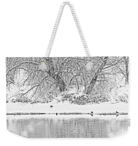 Winter Scene on the Platte River Weekender Tote bag