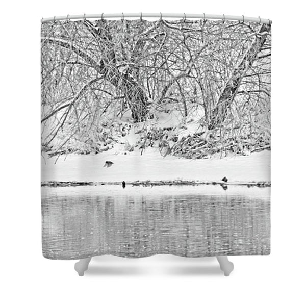 Winter Scene on the Platte River Shower Curtain