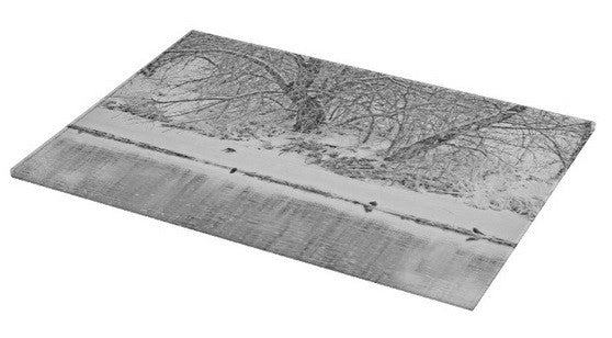Winter Scene on the Platte River Cutting Board