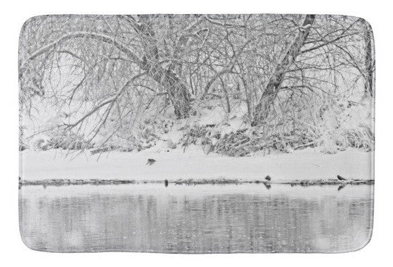 Winter Scene on the Platte River Bath Mat