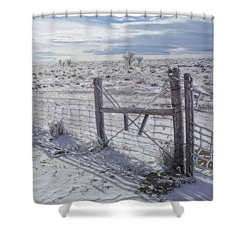 Winter Sunlight On The South Fenceline Shower Curtain