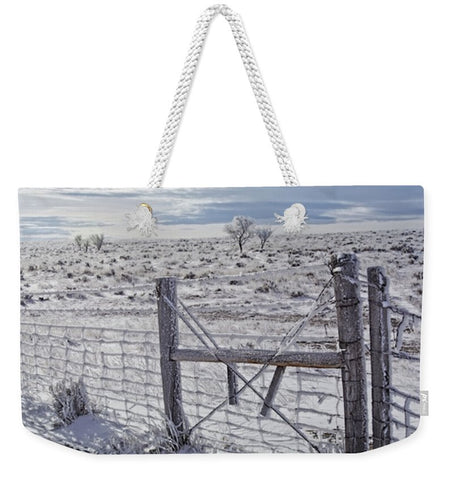 Winter Sunlight On The South Fenceline Weekender Tote bag