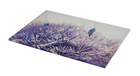 Winter Yucca in Blue Cutting Board