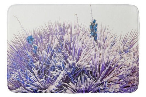 Winter Yucca in Blue Bath Mat