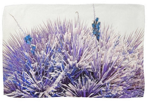 Winter Yucca in Blue Kitchen Towel