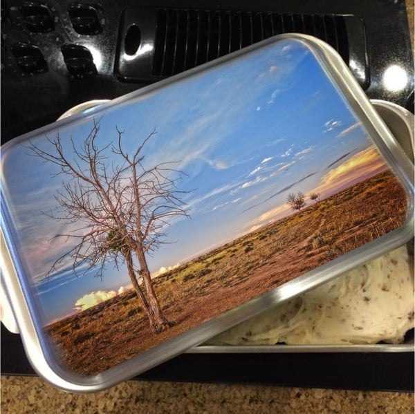 Wyoming High Desert Beauty Cake Pan with Lid