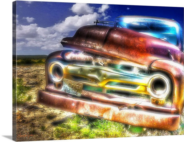 Wyoming Old Chevy Truck Canvas Print