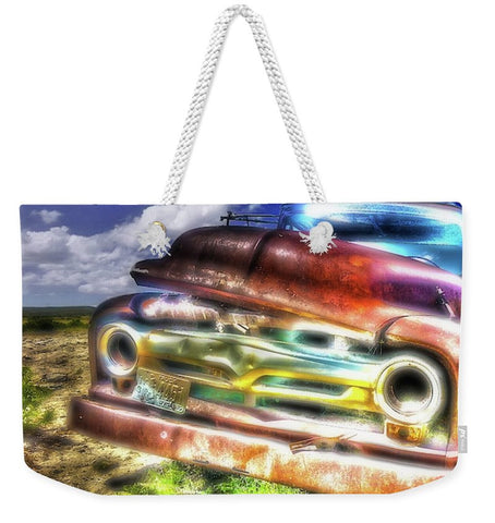 Wyoming Old Chevy Truck Weekender Tote bag