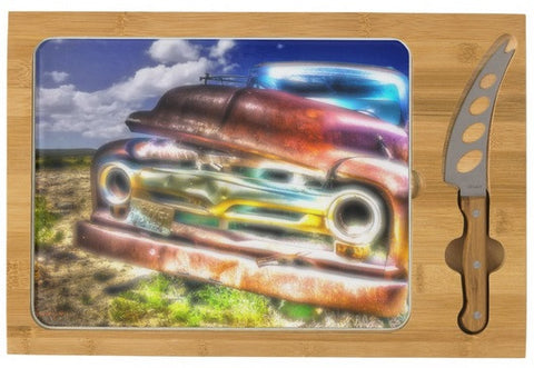 Wyoming Old Chevy Truck Cheese Board