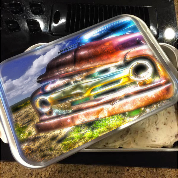 Wyoming Old Chevy Truck Cake Pan with Lid