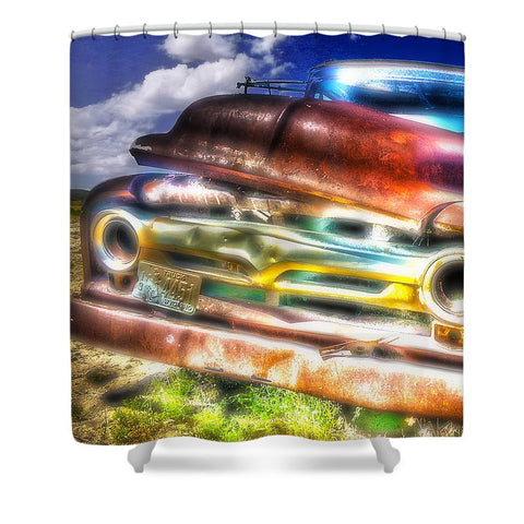 Wyoming Old Chevy Truck Shower Curtain