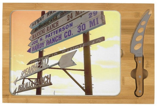 Wyoming Ranch Directions Cheese Board
