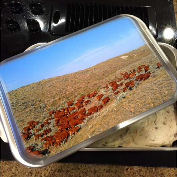 Wyoming Reds Cake Pan with Lid
