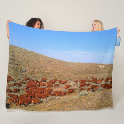 Wyoming Reds Fleece Blanket