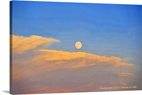 Wyoming Super Moon Canvas Print