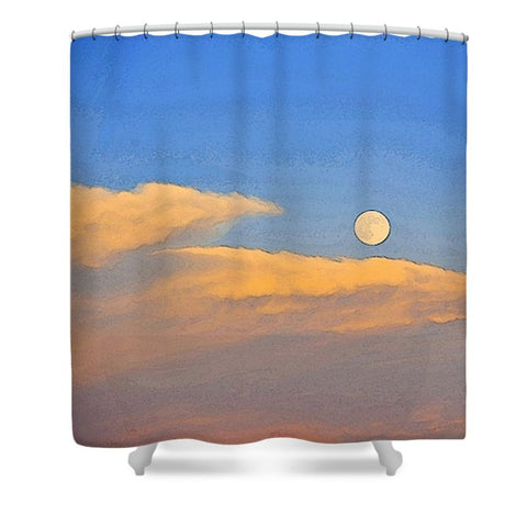 Wyoming Super Moon Shower Curtain