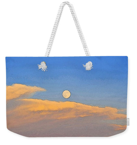 Wyoming Super Moon Weekender Tote bag