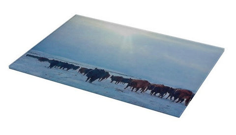 Wyoming Winter Push Cutting Board