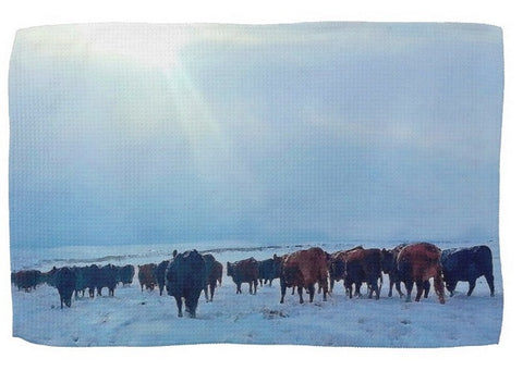 Wyoming Winter Push Kitchen Towel