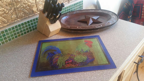 Rooster, Chicken Cutting Board, Appetizer Server 11x15