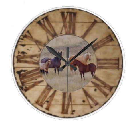Horse Large Wall Clock