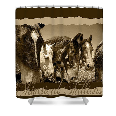 Whimsical Stallions Shower Curtain