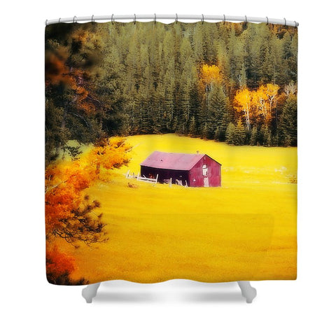 Fall on a South Dakota Meadow Shower Curtain