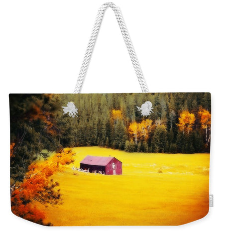 Fall on a South Dakota Meadow Weekender Tote bag