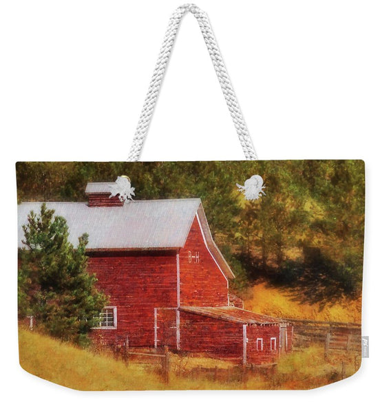 Autumn's Black Hills Barn Weekender Tote bag