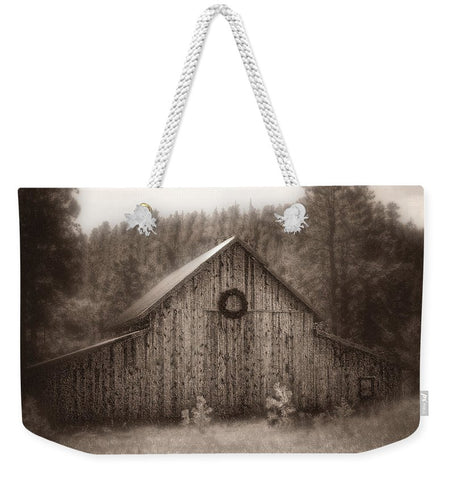 First Snow in November Weekender Tote bag