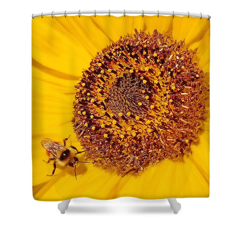 Beauty And The Bee - Shower Curtain