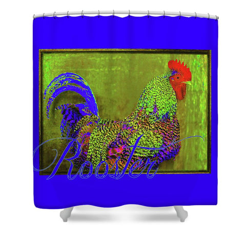 Bert the Rooster Shower Curtain