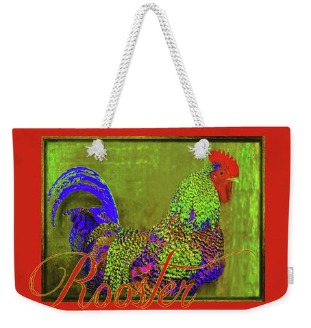Bert the Rooster Red Weekender Tote bag