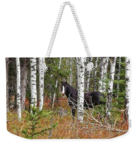 Black And White In Aspen Weekender Tote bag