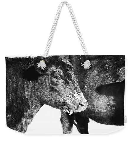 Black And White On Angus Weekender Tote bag