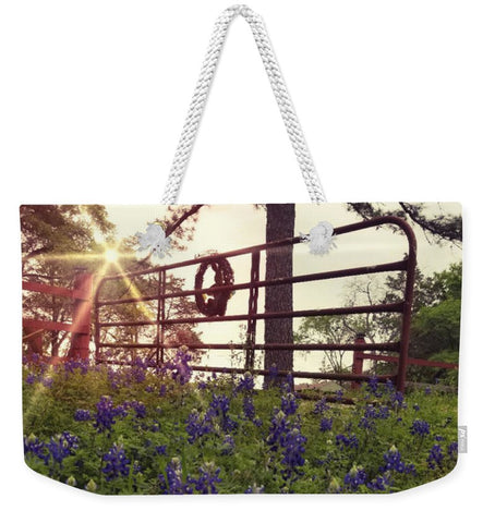 Blue Bonnet Gateway Weekender Tote Bag