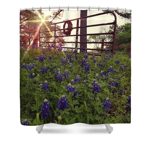 Blue Bonnet Gateway Shower Curtain