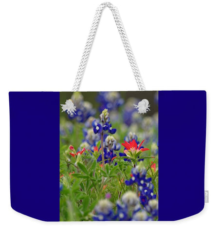 Blue Bonnets And A Paintbrush Weekender Tote Bag
