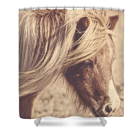 Blue Eyes Vintage Shower Curtain